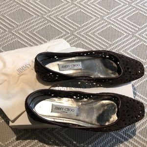 Jimmy choo size 39 brown suede ballet flat